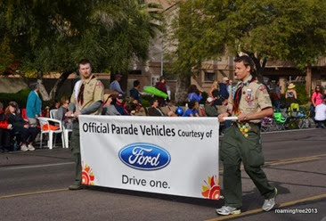 Ford provided the parade vehicles