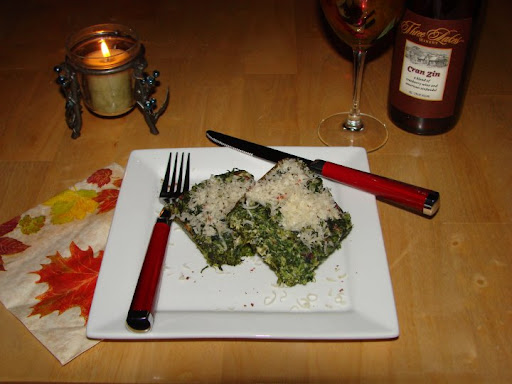 Gail's spinach torta which she described as 