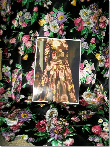 Grace Kelly Black Print Dress 3