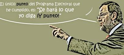 Rajoy y programa electoral