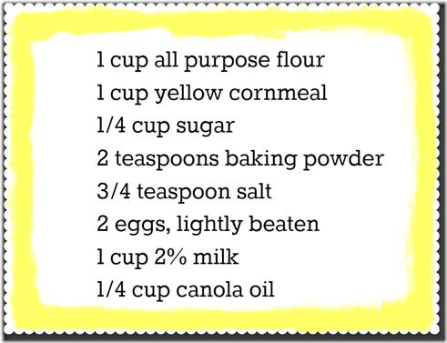Cornbread recipe 1