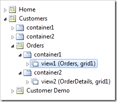 A master data view selected in Project Explorer