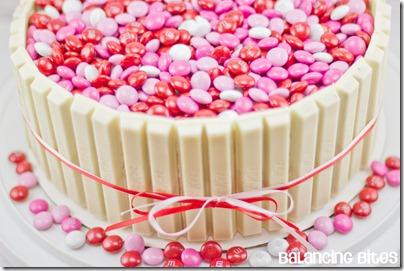 Valentines Kit Kat Cake 3