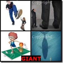 GIANT- 4 Pics 1 Word Answers 3 Letters