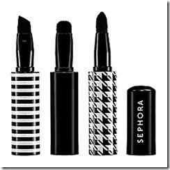 Sephora black-and-white stripes houndstooth brush set