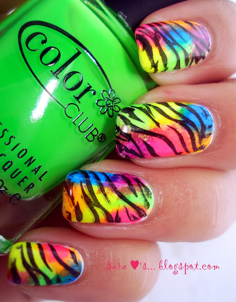 DSC02445 Cute Neon Nail Designs