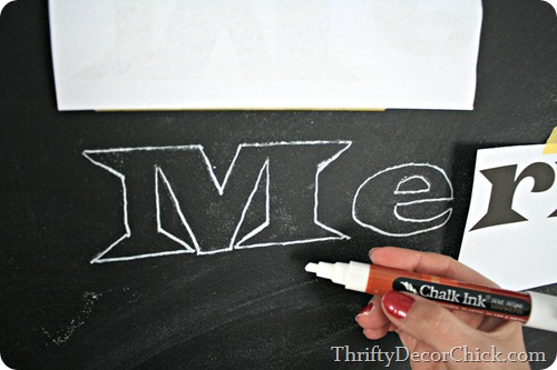 transferring image to chalkboard