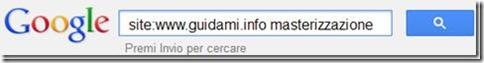 Operatore site di Google esempio