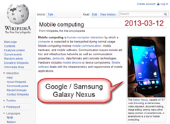 Mobile computing = Galaxy Nexus