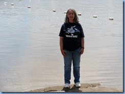 4906 Laurel Creek Conservation Area  - Karen at beach on Laurel Reservoir