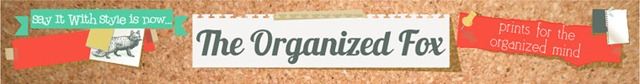 The Organized Fox {personalized calendars & more}