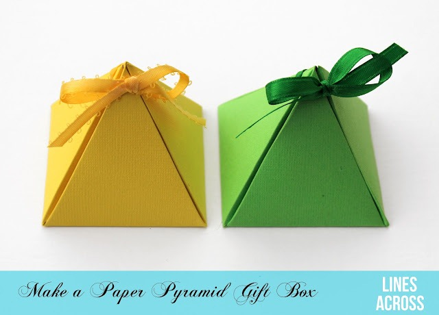 50make a paper pyramid gift box