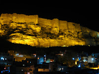 Night View of Meherangarh Fort - Jodhpur, Rajasthan