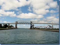 4989 Michigan - Sault Sainte Marie, MI -  St Marys River - Soo Locks Boat Tours - International Bridge