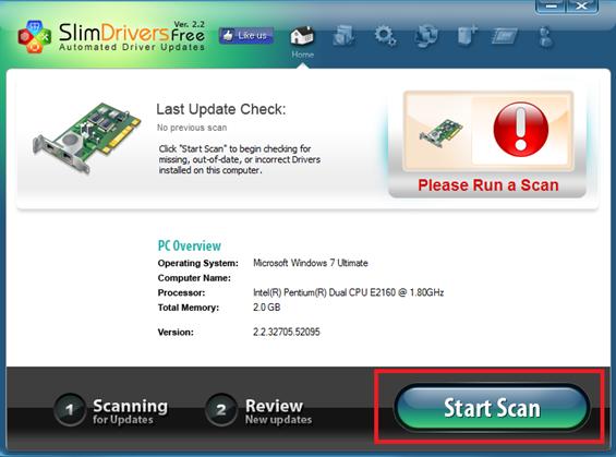 Clique em Start Scan - Slim Drivers_thumb[3]