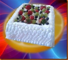 creamy fruit kek