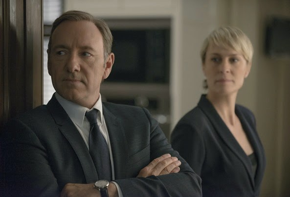 "Kevin Spacey and Robin Wright in season 2 of Netflix's ""House of Cards."" Photo credit: Nathaniel Bell for Netflix."