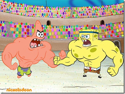 Spongebob and Patrick - fighting