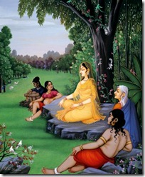 Sita Devi in the Ashoka grove