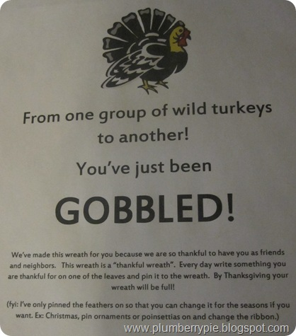 gobble note