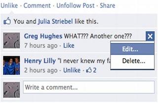 editar comentarios en facebook