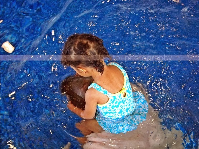AOI and daddy swim