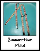 Summertime plaid suspenders