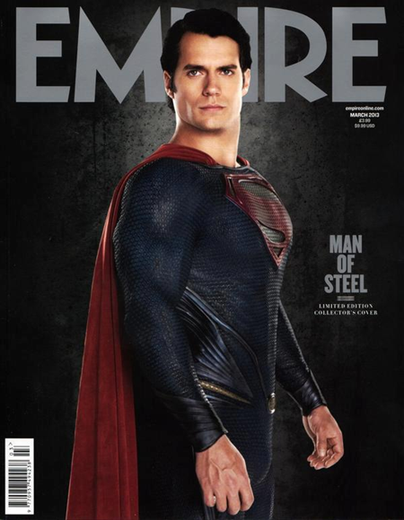 Henry Cavill as Superman on Empire March 2013 cover