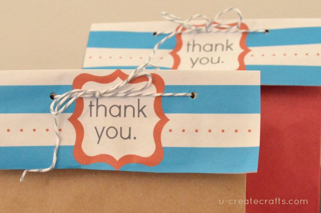 Free Printable Thank You Bag Toppers