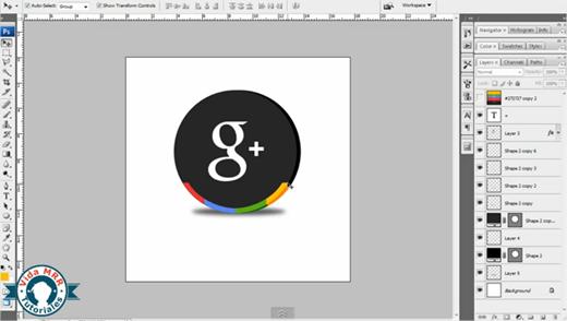 Crear un ícono de Google+ en Photoshop