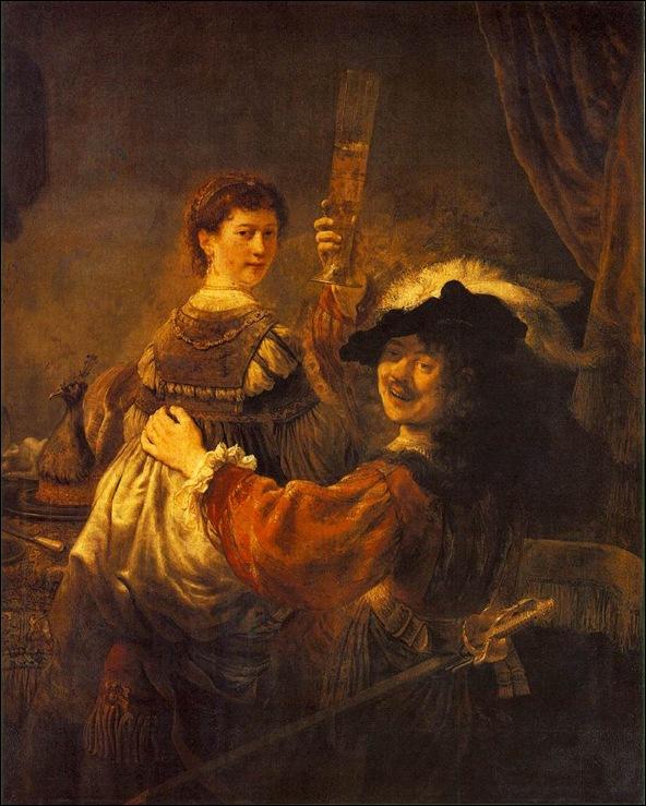 Rembrandt, Le peintre et Saskia 1635