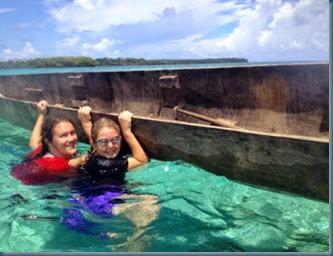 Joanna & Olivia by canoe