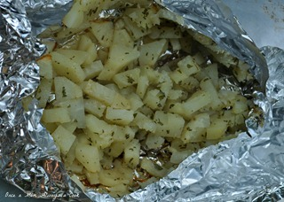 rosemary potatoes grilled in foil