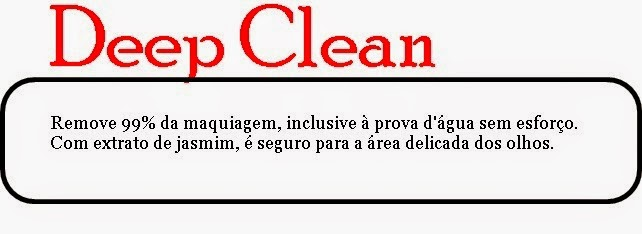 Deep clean demaquilante