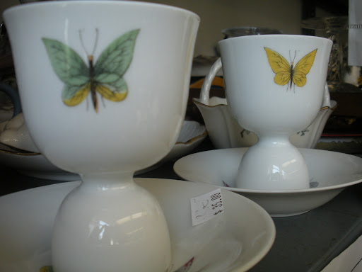 The butterfly detail on these egg cups is perfect for summer.