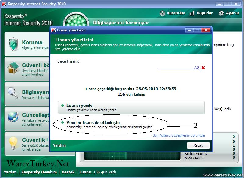 Kaspersky 2010 Key Girme - Resimli Anlat?m.