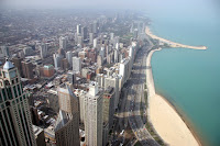"""View of """"The Gold Coast"""" from Hancock tower"""