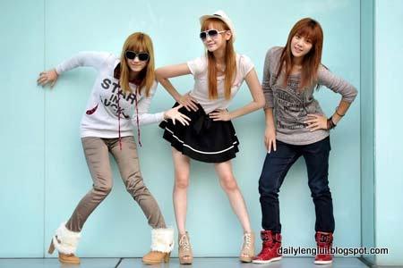 L-R: Ferlyn Wong, Elaine Yuki Wong and Natasha Low