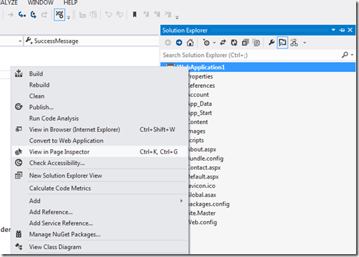 PageInsepctorLoadinVisualStudio2012