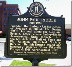 John Paul Riddle Marker (Side Two) Pikeville, KY