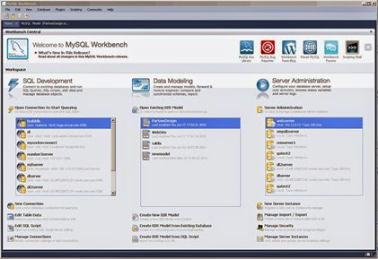 MySQL Workbench GUI Databases Manager