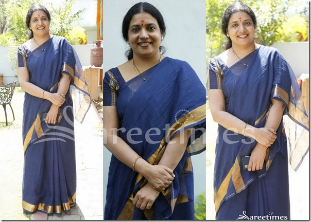 Jevitha_Blue_Cotton_Saree