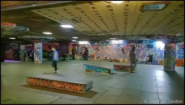 Southbank Christmas Market skate park