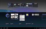 Motorola Xoom - menu widgets