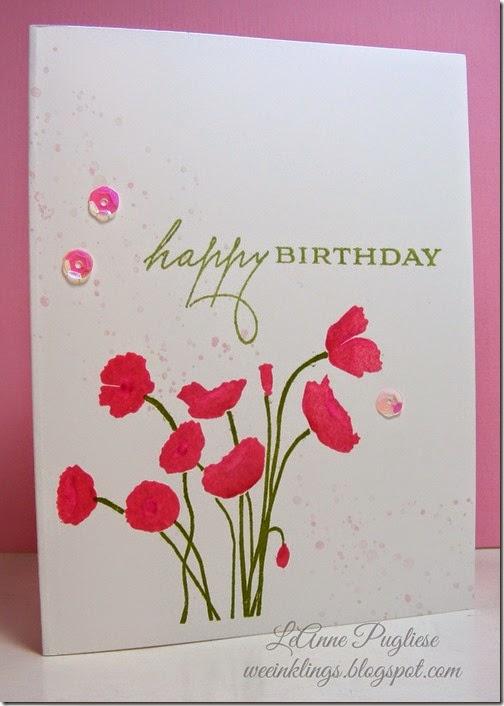 LeAnne Pugliese WeeInklings Paper Players 196 CAS Birthday Papertrey