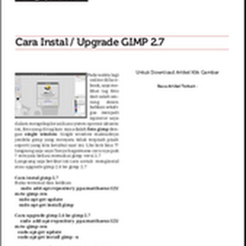 Pasang Download Artikel PDF di blog