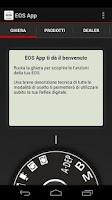 Screenshot of EOS App