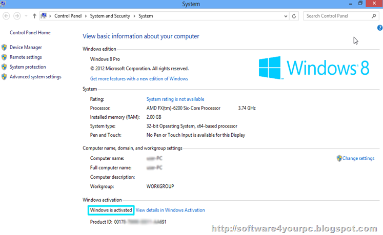 Windows 8 Activated