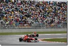 Alonso precede Hamilton nel gran premio della Corea 2010