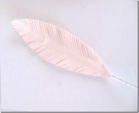 paper white feathers